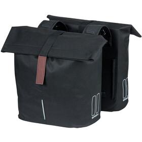 Basil City Double Pannier Bag 28-32l, negro